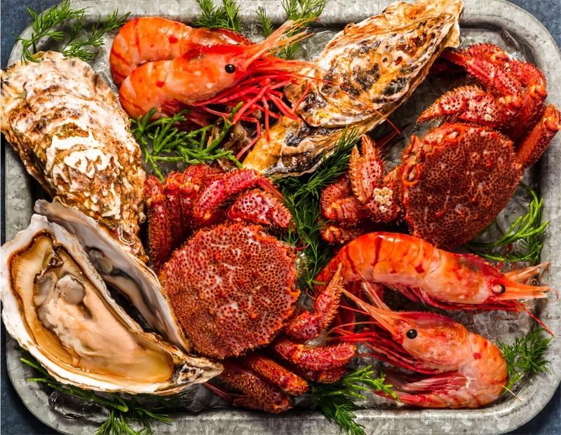 食事に使われる海鮮