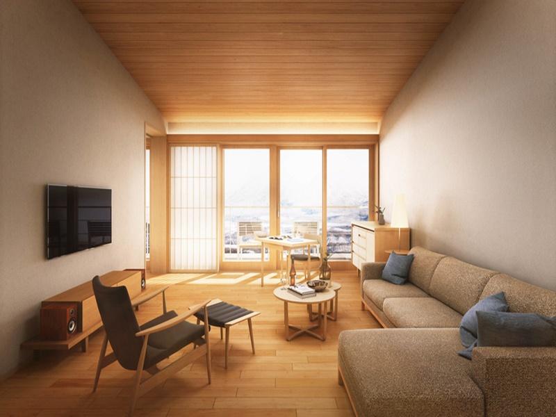 「楽 水山」客室リビングルーム