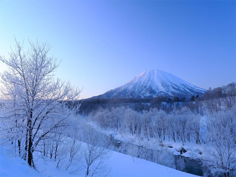 羊蹄山 冬