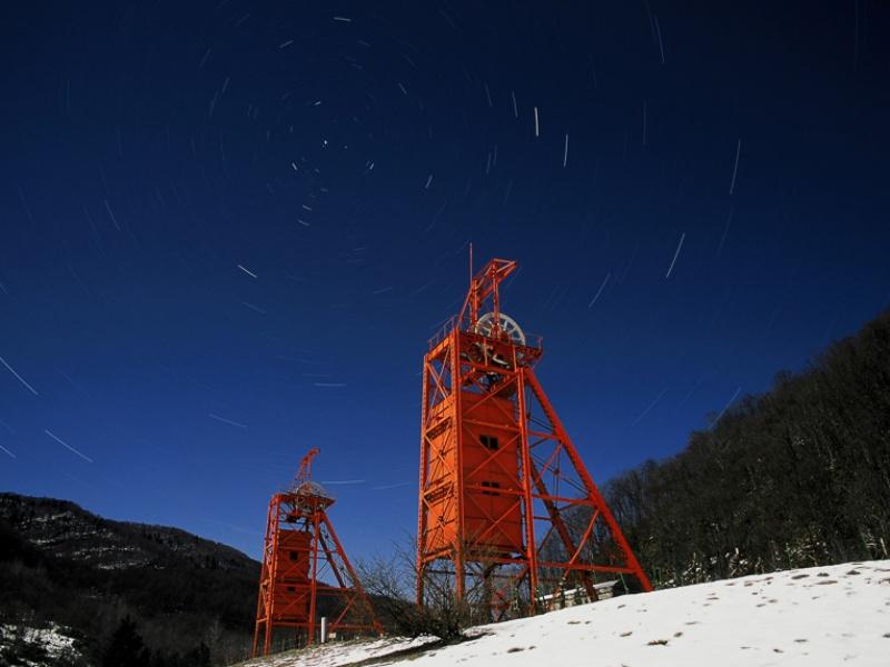 冬の炭鉱メモリアル森林公園
