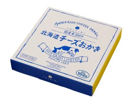 北海道チーズおかきのパッケージ