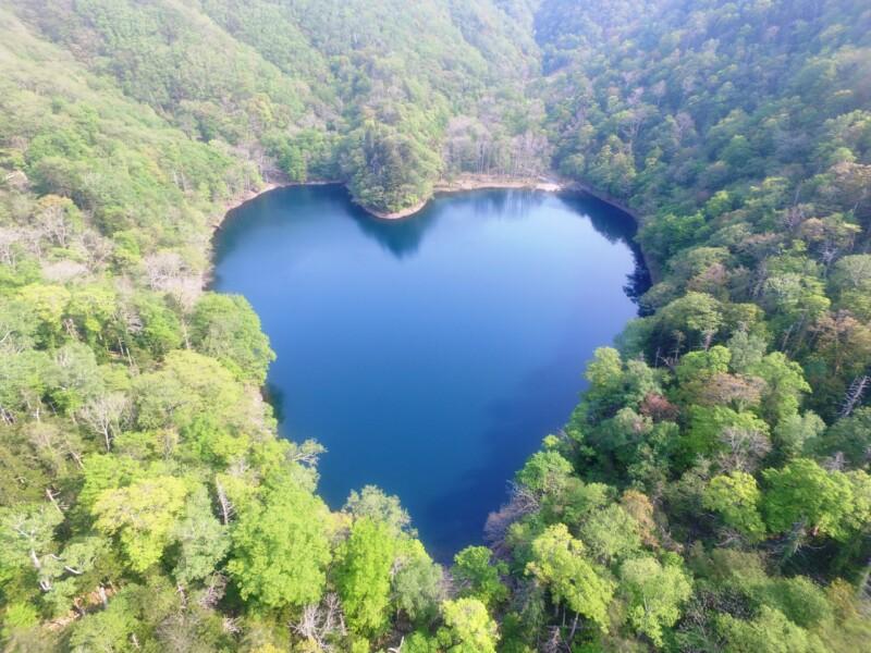 ハートの湖