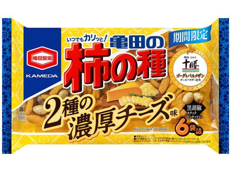 亀田の柿の種 北海道チーズ味