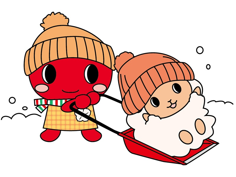 こりん めーたん 雪遊び