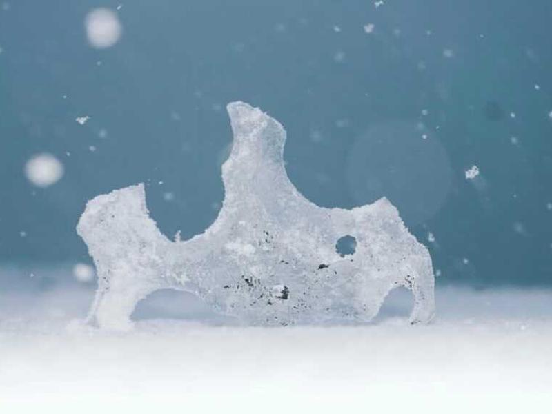 不思議な形の氷