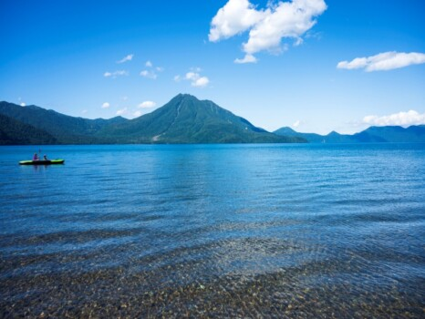 支笏湖-美笛キャンプ場からの眺め-