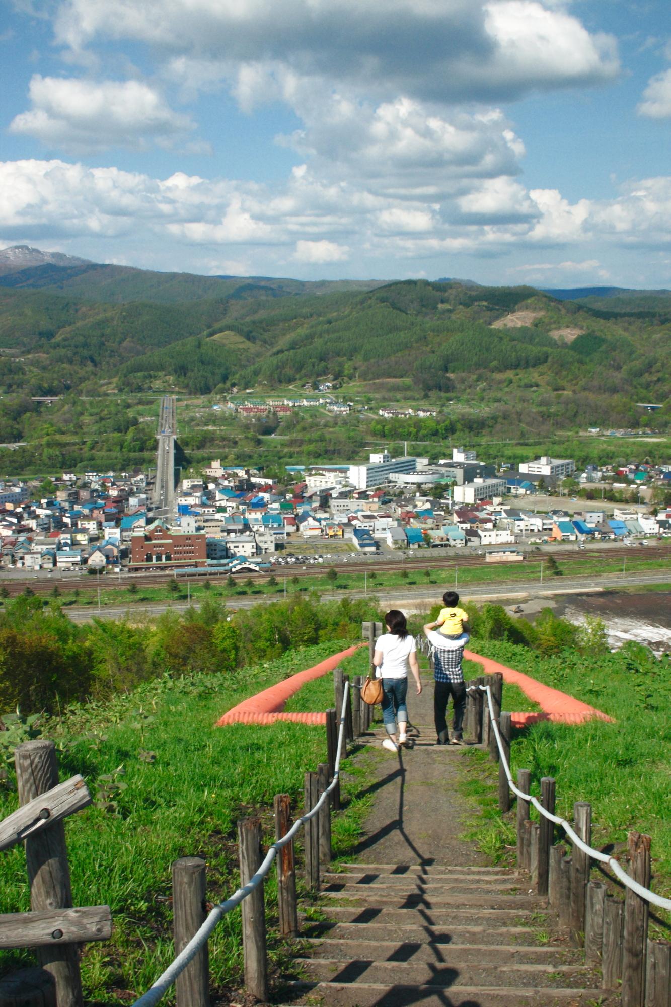 赤平ズリ山階段