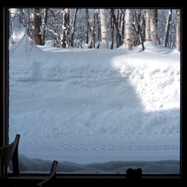 窓からみた雪景色