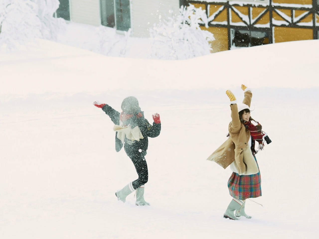 雪の日は暖かい