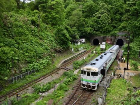 小幌駅とキハ40系