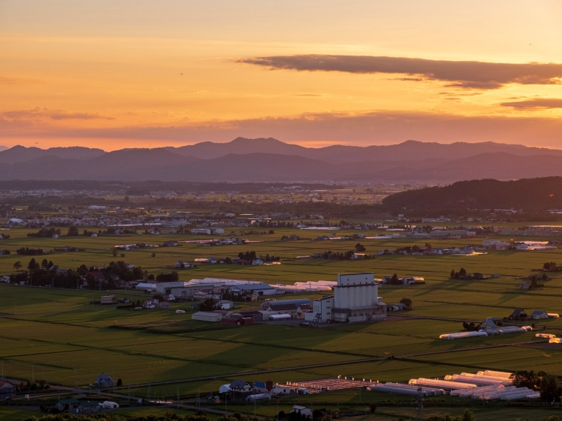 当麻町 当麻山展望台からの景色