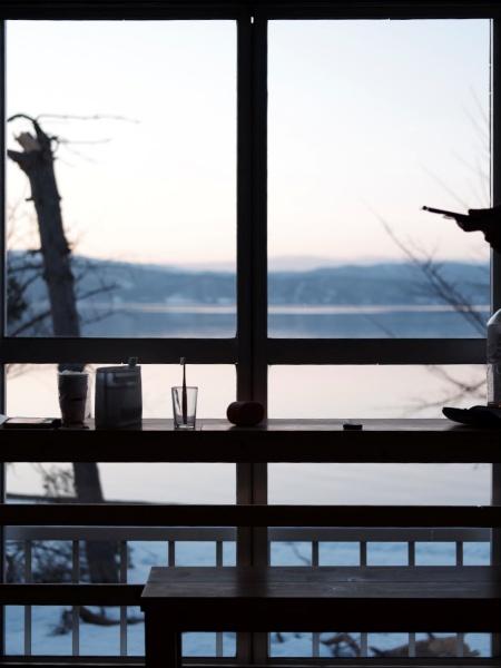 客室の窓から見える景色