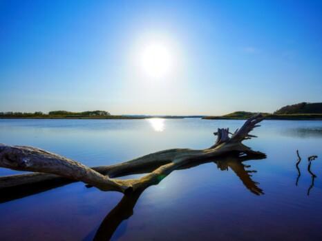 猿払川 カリベツ川の夕暮れ 宗谷郡猿払村