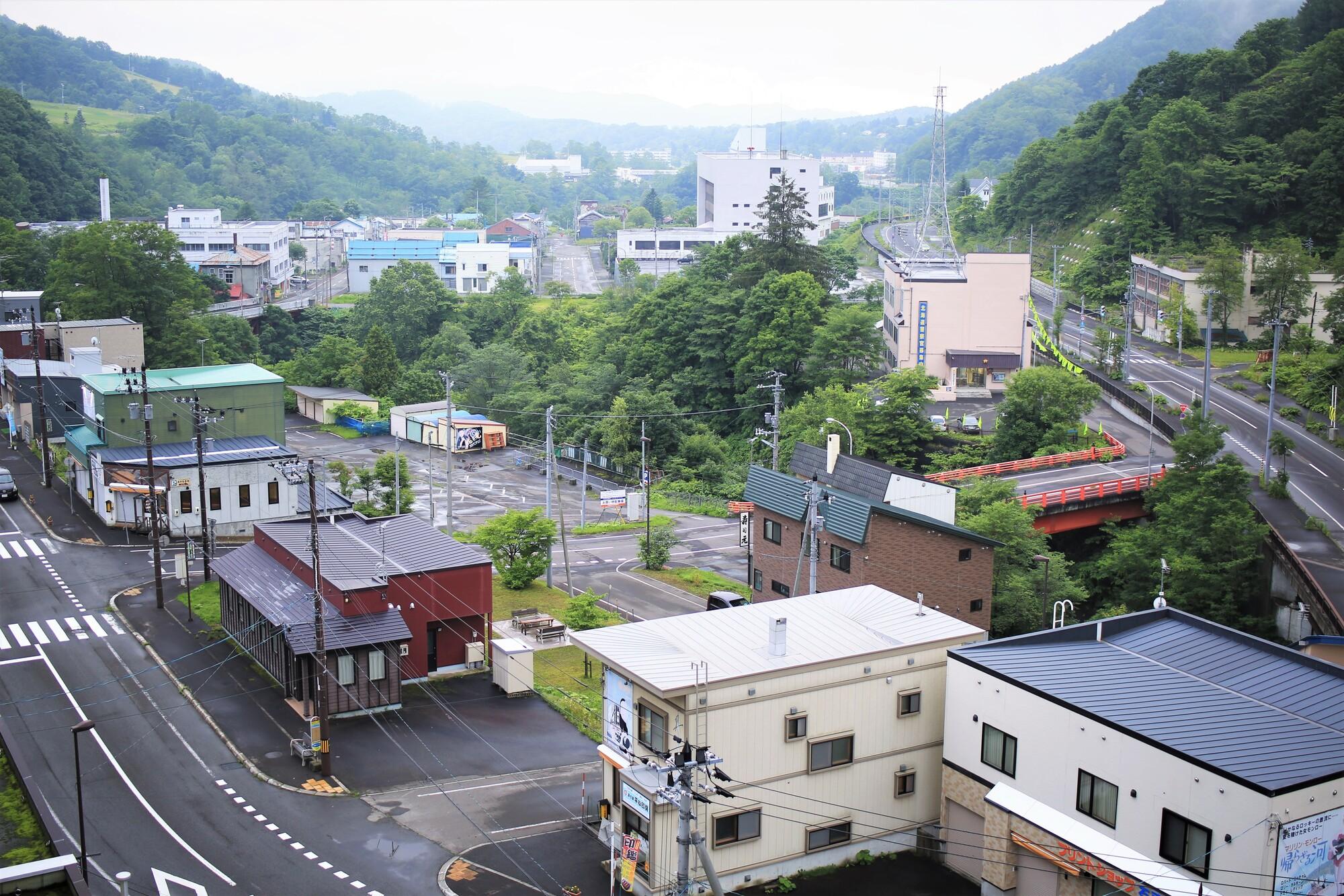 夕張市・市街地風景(北海道夕張市)