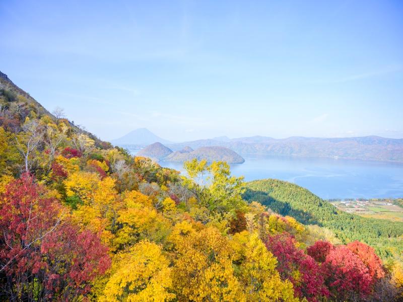 洞爺湖(有珠山ロープウェイからの眺め)