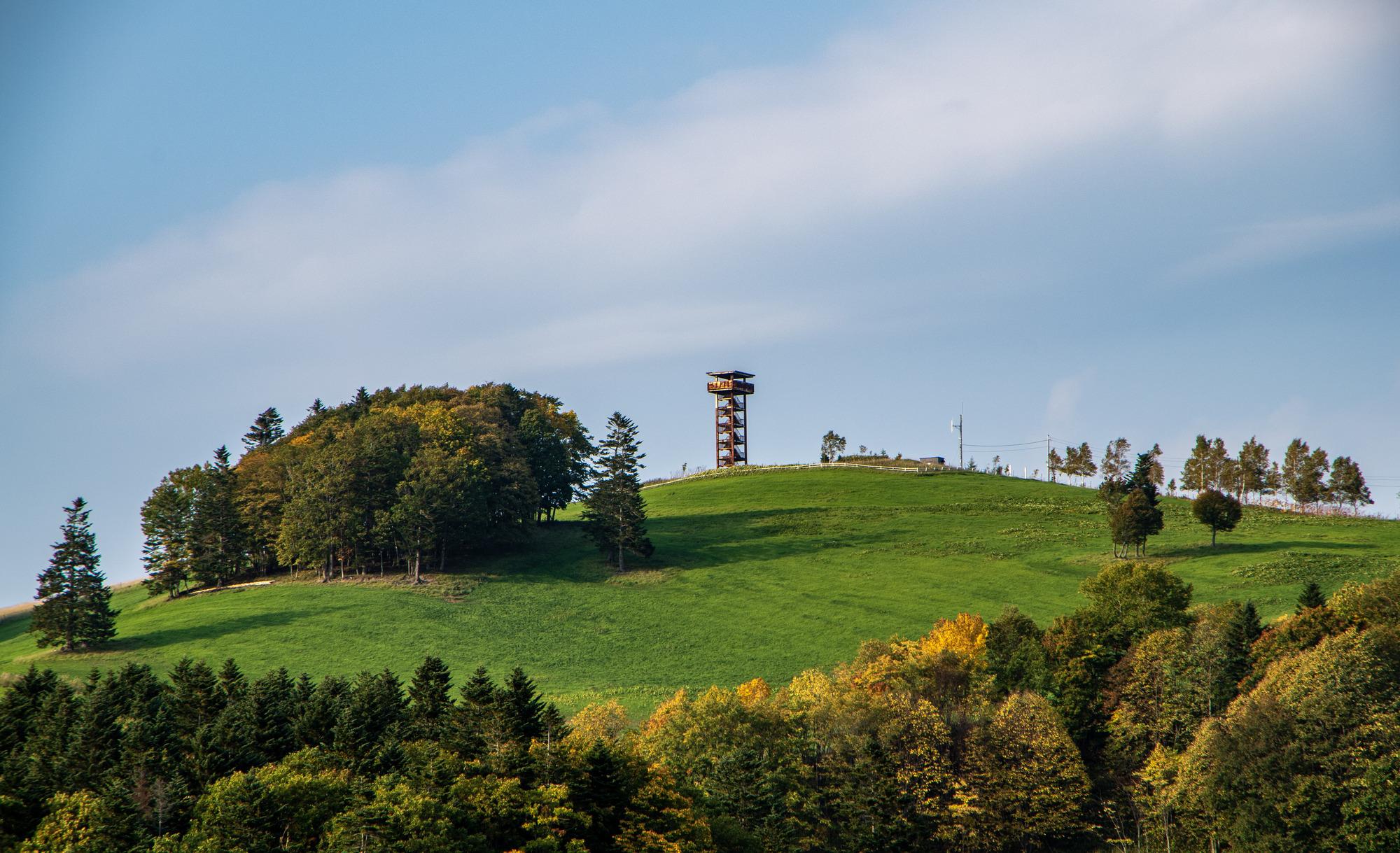 秋の下川町サンル牧場の風景
