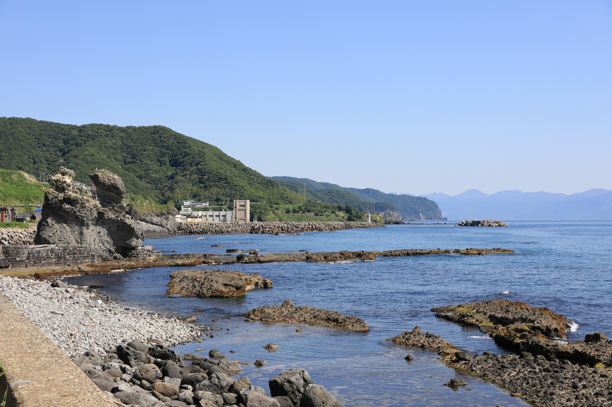 某所から見る神恵内村の海岸線