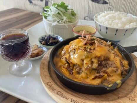 炙りチーズのオニオンソースハンバーグ