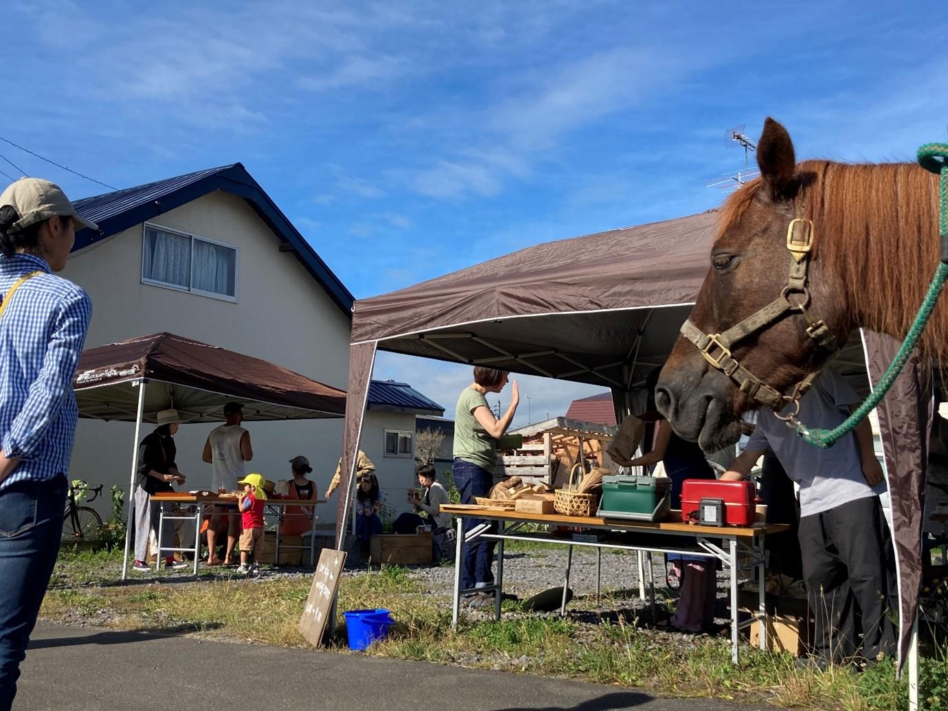 町民主催の朝ごはんイベントの様子。立花さんお気に入りの一枚。