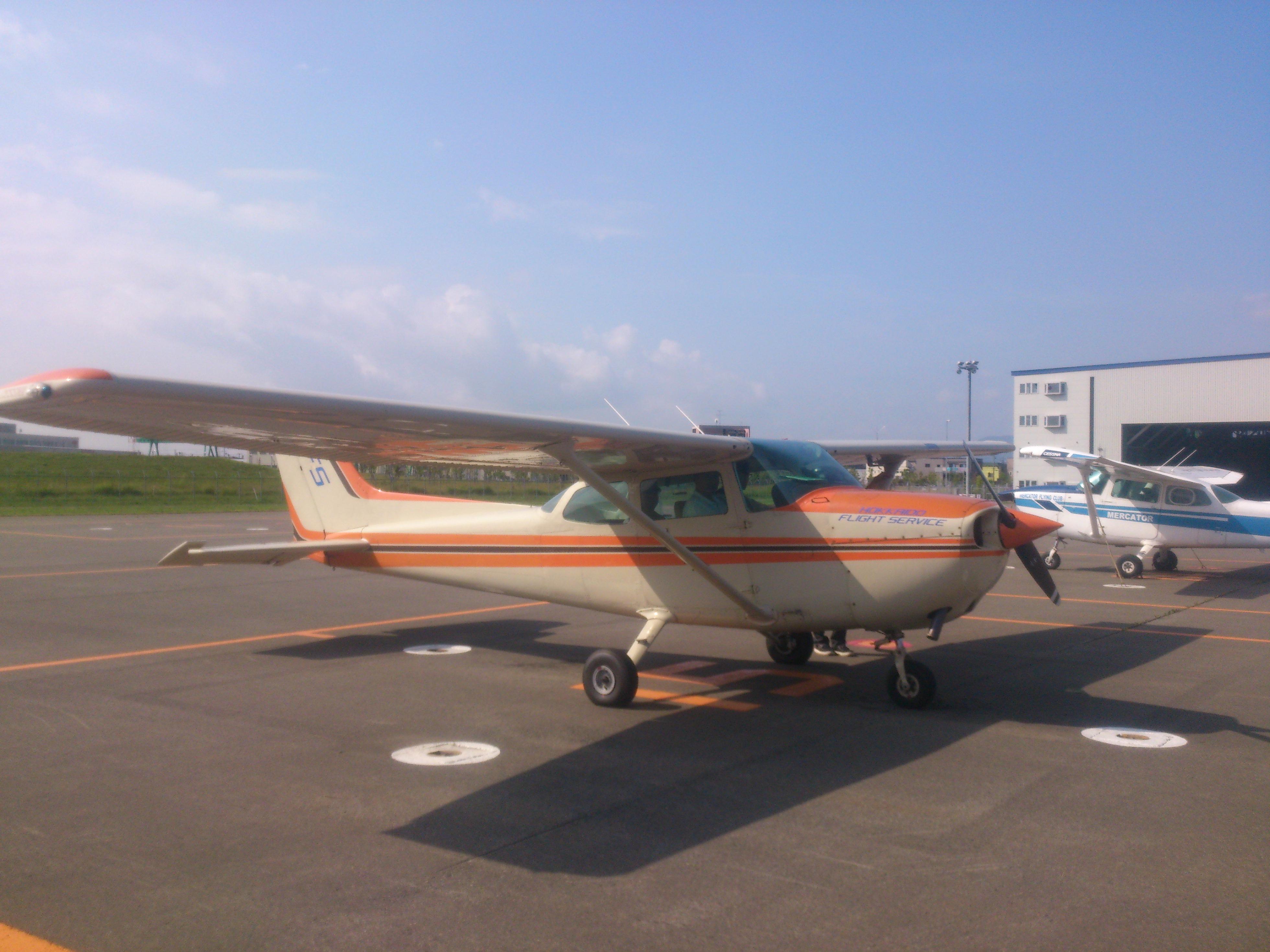 過去に丘珠空港にて訓練飛行に使用した機体
