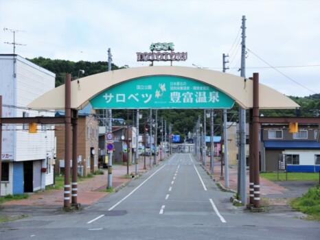 豊富駅・駅前風景(JR北海道・宗谷本線)