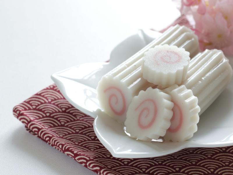 Japanese food, fish cake Narutomaki