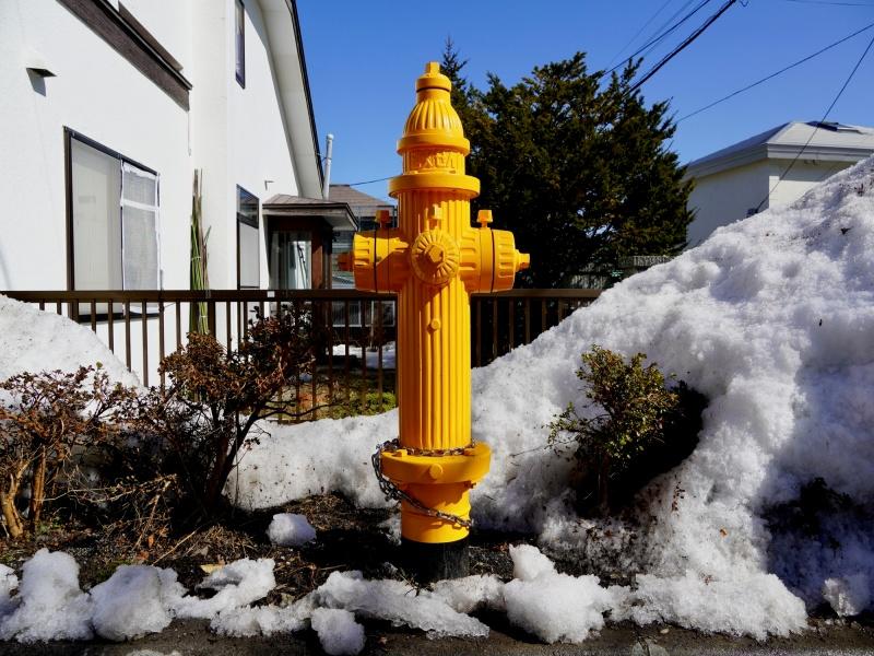 函館市の消火栓・晩冬