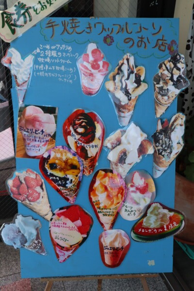 地球のアイス 手焼きワッフルコーンのお店