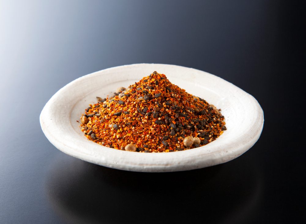 Shichimi pepper.Blend of seven spices