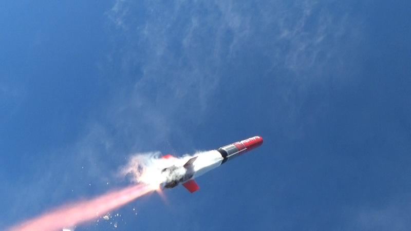 「TENGAロケット」飛ぶ様子