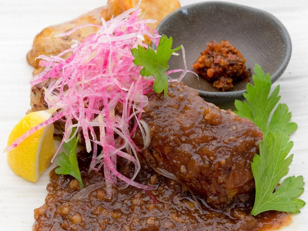 かみふらのポーク&古典のステーキソースと自家製の生七味