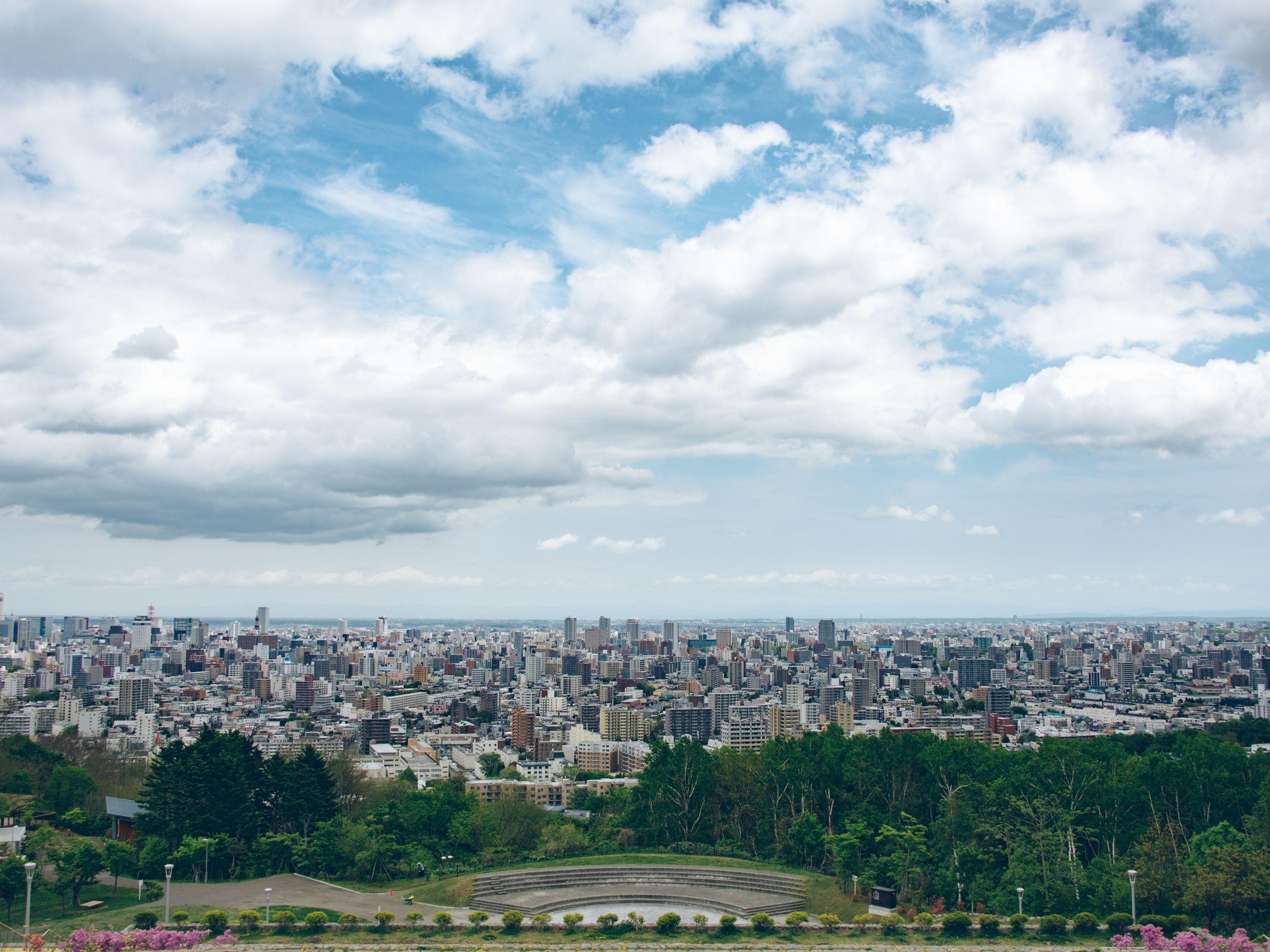 旭山記念公園 昼間の景観