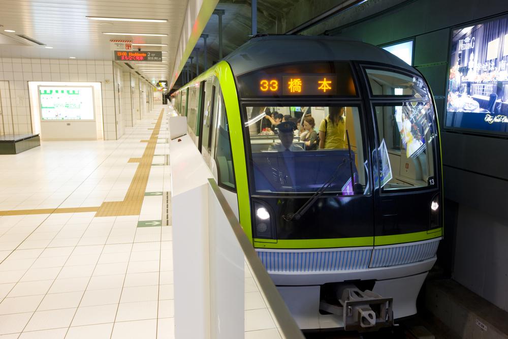 日本の地下鉄のイメージ