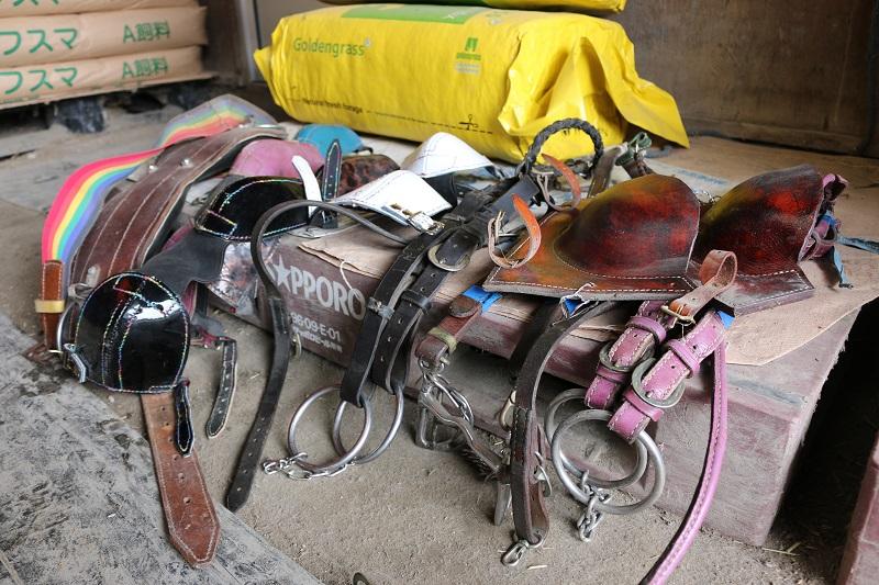 谷調教師手作りの馬具