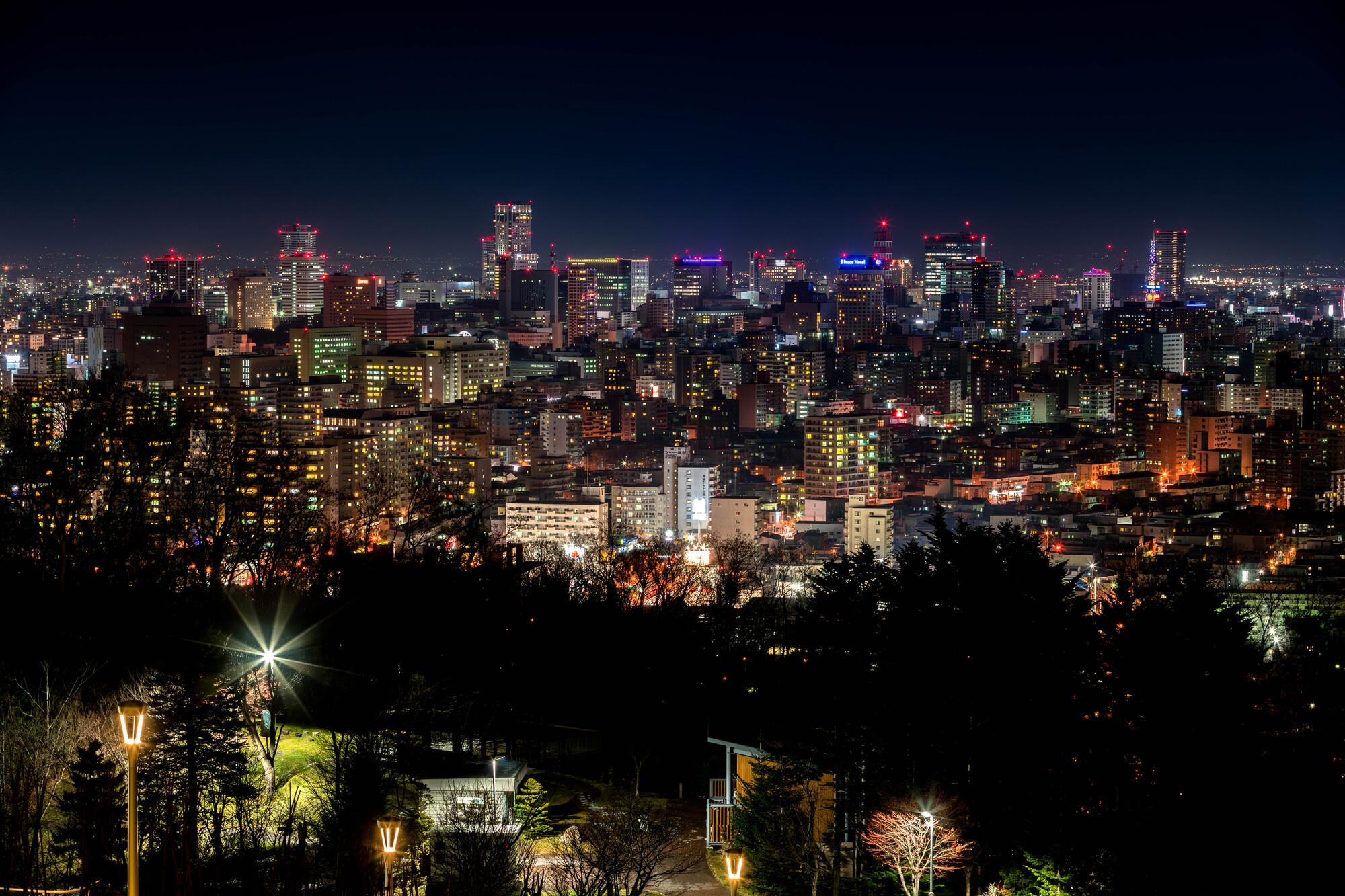 札幌・旭山記念公園の夜景