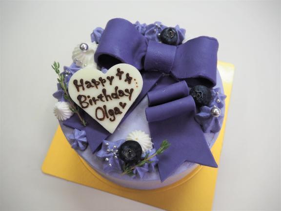 オーダーケーキ 紫