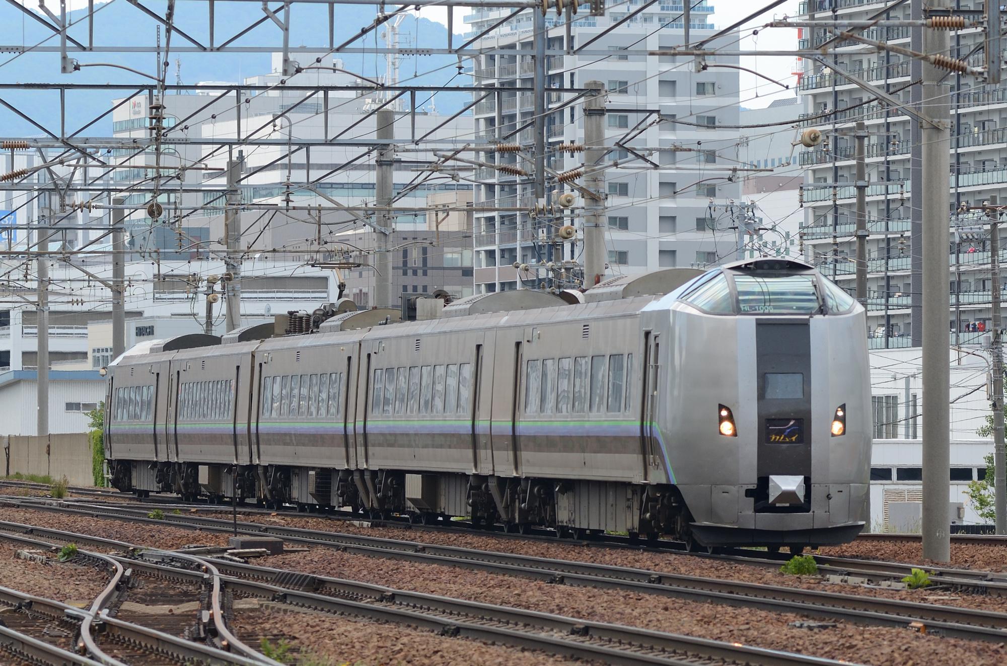 旭川を目指して札幌を出発した特急「カムイ」