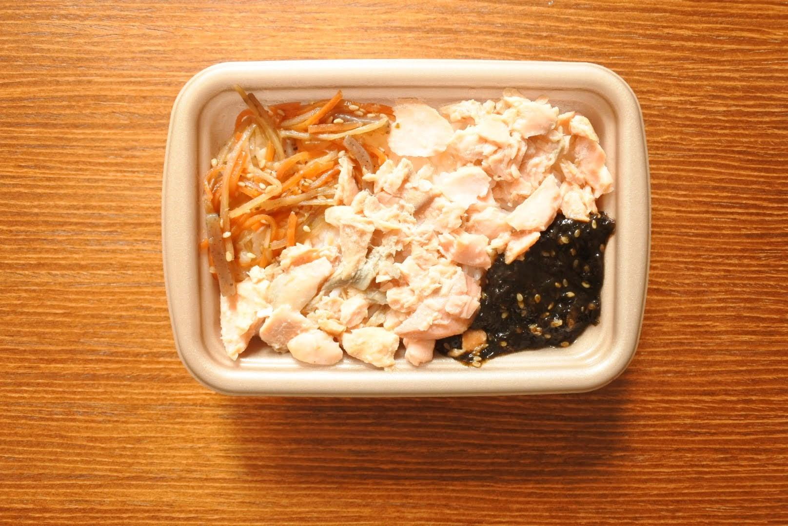 セブン秋鮭ご飯レンチン後